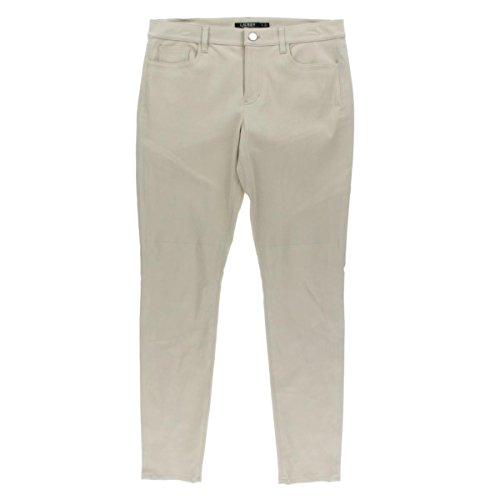 RALPH LAUREN $898 Womens New 1233 Beige Lamb Skinny Casual Pants 14 B+B
