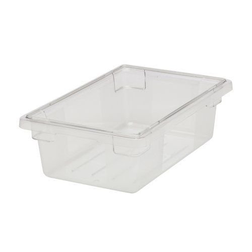 Rubbermaid Commercial 3309CLE Food/Tote Boxes, 3 1/2 gal, 18 w x 12 d x 6 h, Clear Polycarbonate Food Tote Box