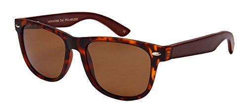 Edge I-Wear Horned Rim Bamboo Wooden Men Women Polarized Sunglasses Spring Hinge by