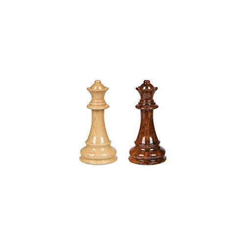 Chess Board Queen (Best Chess Set Extra Queens Only (for use with Abigail Chess Inlaid Wood Folding Board Game with Pieces - 21 Inch Set))