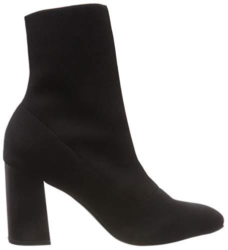 Femme Bianco Bottines Boot black Noir Knit 104 ttUSwq7x