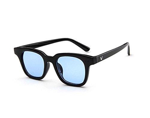 Tou che Korea retro fashion sunglasses sunglasses sheet transparent ocean (Blue Color, 02)