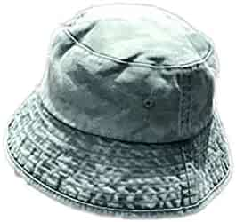4bcee52b Women's Washed Denim Bucket Hats Women Vintage Denim Bucket Cap Men's Bucket  Hat Sunhat