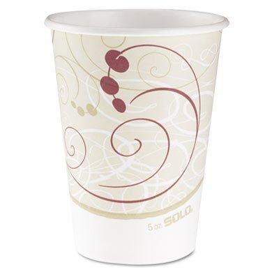 Paper Cup Symphony Hot (SOLO Cup Company Hot Cups, Symphony Design, 12oz, Beige, 1000/Carton)