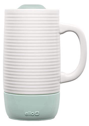 - Ello Jane Ceramic Travel Mug with Slider Lid |18 oz | Yucca