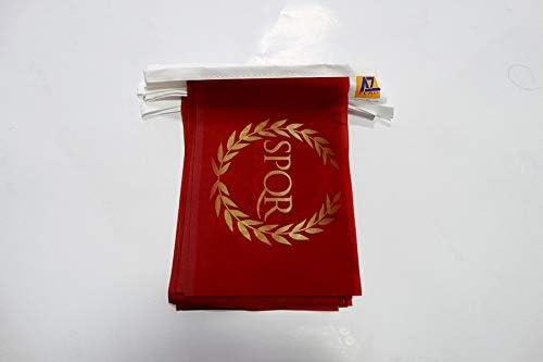 AZ FLAG Guirnalda 6 Metros 20 Banderas del Imperio Romano 21x15cm - Bandera SPQR 15 x 21 cm - BANDERINES: Amazon.es: Jardín
