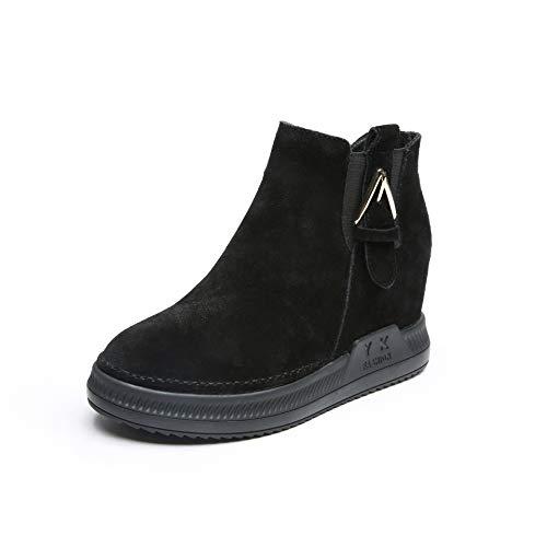 De Mode Mode Et Cuir Hiver Loisirs Femme en De Automne GTVERNH black Chaussures Chaussures Bottes PB7qqvAn