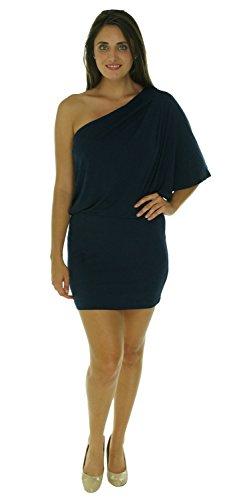 Jessica Simpson Women's One Shoulder Dress, Navy, Medium
