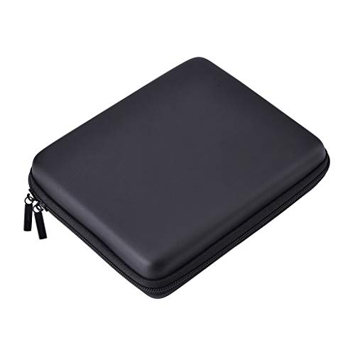 Hard EVA Storage Zip Case Detachable Hand Wrist Strap Portable Storage Bag Suitcase for Nintendo 2DS (Black)