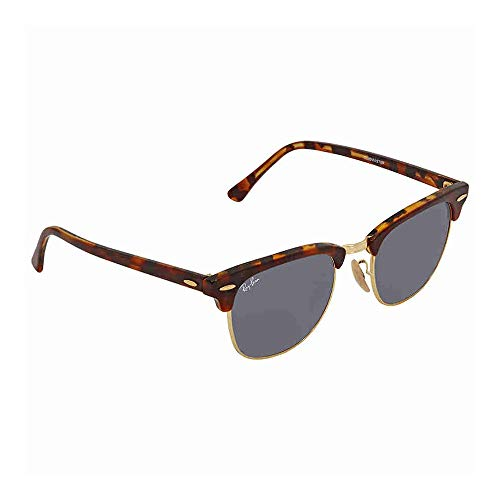 Ray-Ban RB3016 Clubmaster Sunglasses Top Havana Brown/Yellow / Blue 49mm (Top Mens Sunglasses)