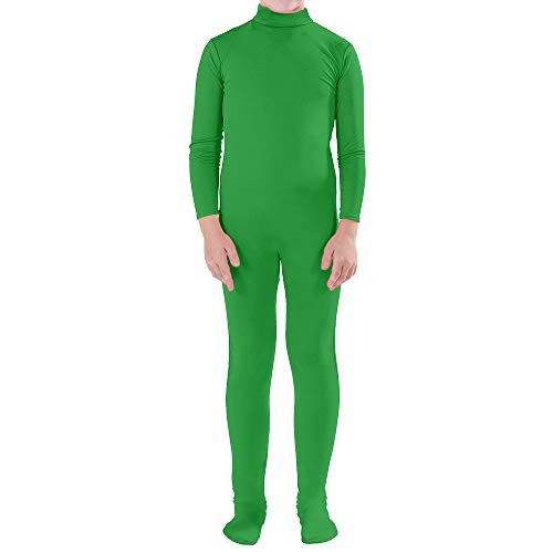 Muka Adult & Kid Zentai Unitard Bodysuit Halloween Costume Catsuit Dancewear-Green-XL