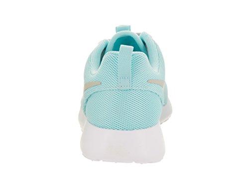 Nike Womens Roshe One Ancora Blu / Grigio Chiaro / Scarpe Da Corsa Bianche