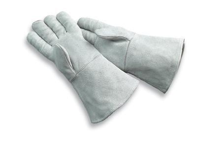 Radnor Large Pearl Gray 14'' Economy Grade Shoulde (Gloves Economy Welding)