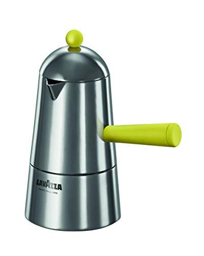 ILSA Lavazza Carmencita Pop – Cafetera de inducción de aluminio, color amarillo, 2/3/6 tazas (6 tazas)