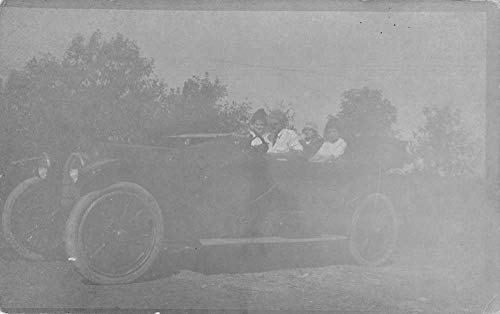 People in Automobile Car Real Photo Vintage Postcard AA107