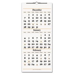 - Three-Month Reference Wall Calendar, 12 x 27, 2014-2016 -
