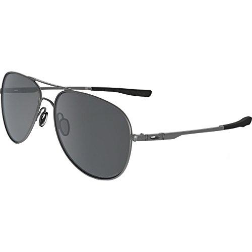 Oakley Elmont M and L Polarized Iridium Aviator Sunglasses, Lead, 58 - Oo4119