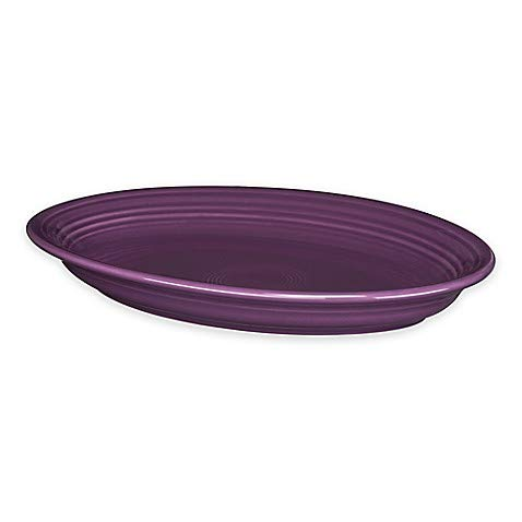 2 Pack 13.6-Inch Oval Platter in Mulberry - Chip-Resistant With A Brilliant Glaze, Durable Ceramic (Oval Platter Fiesta Serving)