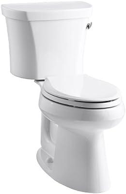 Kohler K-3949-RA-0 Highline Comfort Height 1.28 gpf Toilet, 14-inch Rough-In, Right-Hand Trip Lever, White