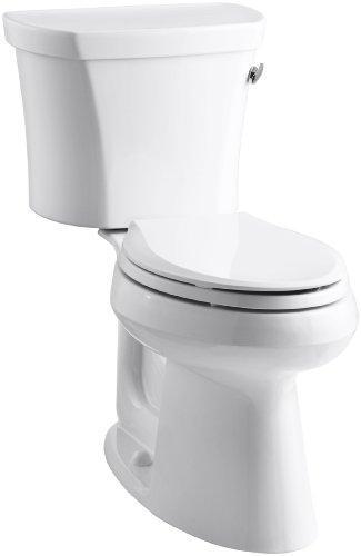 Kohler K-3949-RA-0 Highline Comfort Height 1.28 gpf Toilet, 14-inch Rough-In, Right-Hand Trip Lever, White ()