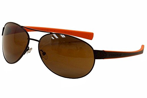 Tag Heuer Lrs253708 Aviator Sunglasses,Matte Brown & Orange,62 - Tagheuer Sunglasses