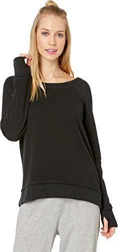 (PJ Salvage Women's Silky Lounge Long Sleeve, Black,)