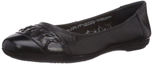 Women's 100 650 janine Black Shoes 1 Marc Black 38 100 Schwarz Closed 08 ballerinas Uaq6fY0x