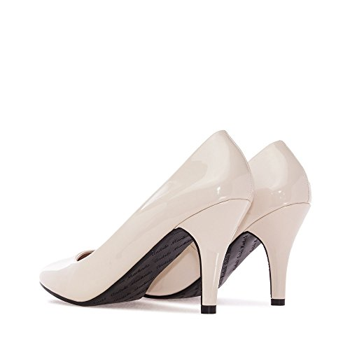 Zapatos beige con hebilla Andres Machado para mujer QHr8vTr12