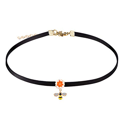 e with Bee Pendant Faux Leather Cord for Women Girs ()