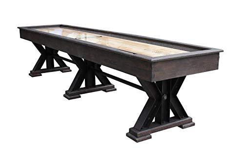 Maple Metal Cabinet - Berner Billiards The Weathered 16 Foot Shuffleboard Table in Black Oak