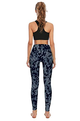 Seyorz High Waisted Yoga Pants with 4 Pockets for Women, Tie Dye Camo Printed Yoga Pants Tummy Control (Camouflage, XX-Large)