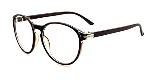 Flowertree Unisex S2166 Plastic Frame Metal Engraved Detail Round 55mm Eyeglasses - Replacement Eyeglass Lens Cheap