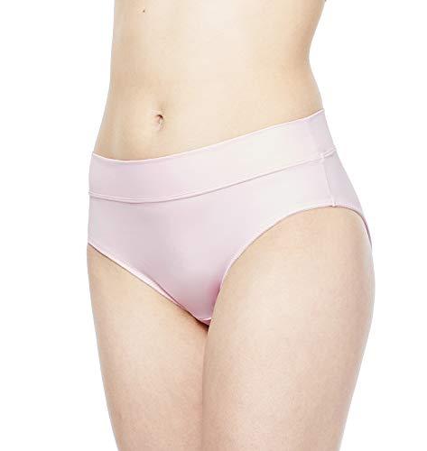 (Carole Martin Women's Panties Wide Waist Band Ultra Soft Microfiber Comfort Briefs Underwear Pink )