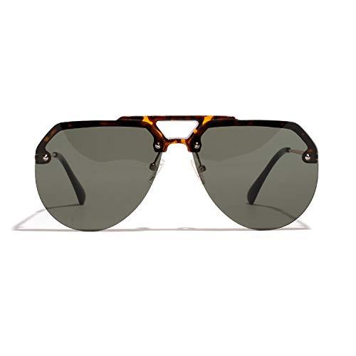 EXEcharge Women's Sunglasses 2019 New Oversized Half Frame Cat Eyes Fashion eyeglasses UV400 Unisex (Green)