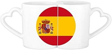 DIYthinker Patrón De La Bandera Nacional De España Europa País Símbolo Marca Redonda De Los Amantes