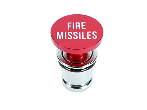 OMNI Factory Novelty Fire Missile Button Cigarette Lighter Cover Universal Design Fits Most Vehicles with Standard 12 Volt Power Source (Car Lighter Cover)