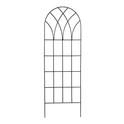 StarSun Depot 60-inch Gothic Arch Top Metal Wall Trellis for Home Garden