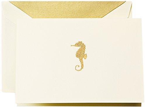 Crane & Co. Engraved Seahorse Note (CF1502) (Note Seahorses)