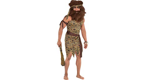 Amscan Caveman Halloween Costume Accessory Kit for Adults, One Size, 4 Pieces
