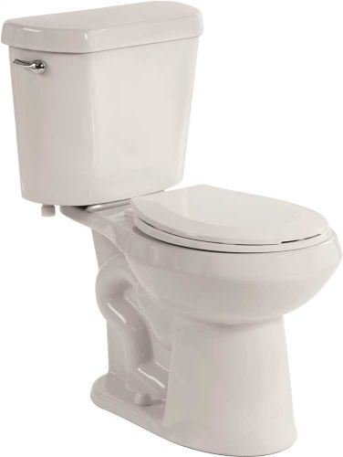 Premier 1034391 Select High Efficiency All-In-One Round Front Comfort Height Toilet With Plastic Seat, 1.28 Gpf