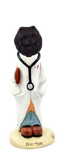 Pomeranian Black Doctor Doogie Collectable Figurine