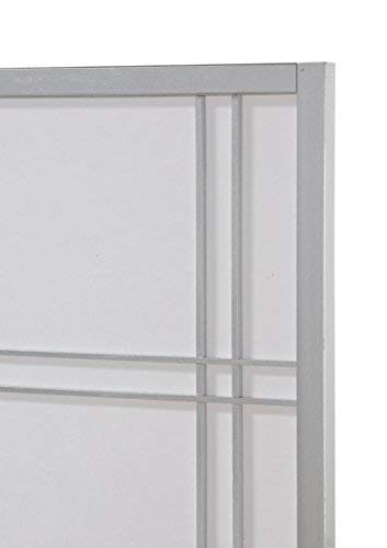 Roundhill Furniture Seto 4-Panel Room Divider Screen, Silver by Roundhill Furniture