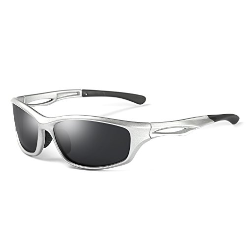 Laura Fairy Polarized Sports Sunglasses TR90 Silver Unisex Running Cycling Fishing (silver - Sunglasses Germany