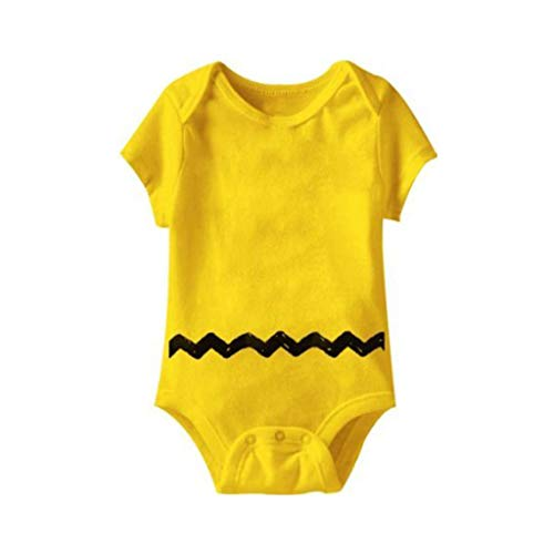 Peanuts Charlie Brown Costume Yellow Infant Baby Onesie Romper (18-24 Months)]()