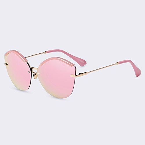 TIANLIANG04 Fashion Cat Eye Lunettes de soleil Femme Lunettes de soleil Miroir lunettes UV400 ultra-léger féminin,C02Pink
