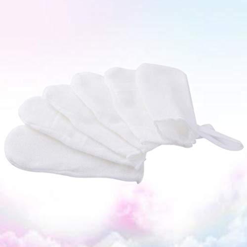 HEALLILY 12pcs Baby's Finger Toothbrush Soft Gauze Dental Brush Infant Oral Hygiene Brush