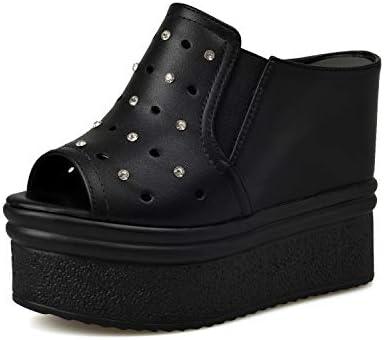 厚底靴 レディース あつぞこくつ 歩きやすい ヒール/ハイヒール/天女靴 (ブラック 35サイズ、22.5cm) [並行輸入品]