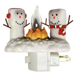 Marshmallow Campfire Flickering Night Light (165115)