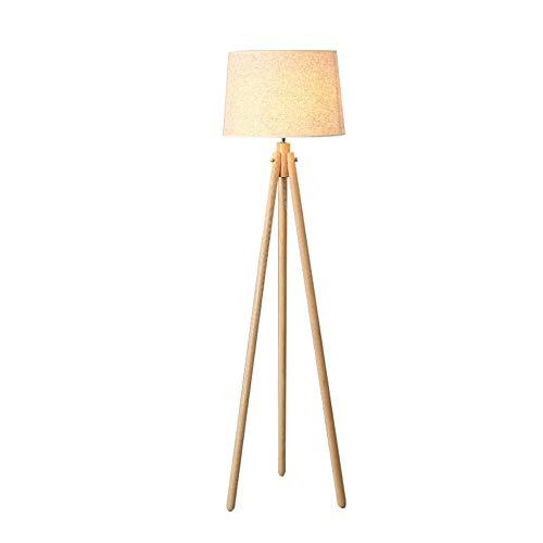 Lámpara de pie trípode Luz de Madera Vintage Retro Luces ...
