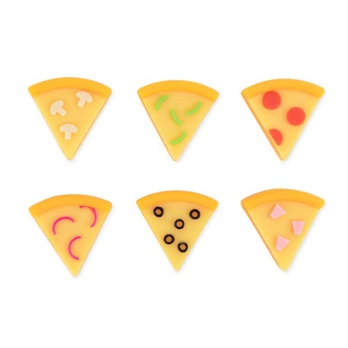 Truefabrications Cute Drink Markers Women Assorted Pizza Slice Charms for Wine Glass - Set of 12 (Sold by Case, Pack of 12) by Truefabrications